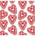red hearts love sunburst decoration seamless vector image