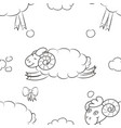 sheep flying in the clouds vector image