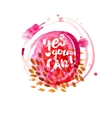 Yes you can lettering at watercolor vector image