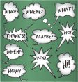 though and speech bubbles vector image vector image