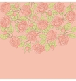 Floral background with rose in pastel tones vector image vector image