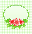 Cute spring card with flowers and leaves vector image vector image