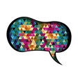 colorful speech with shape of peanut and abstract vector image