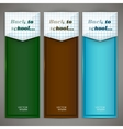Set of colorful banners arrows bookmarks Back to vector image vector image
