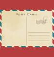 vintage classical postcard design vector image vector image