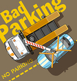 Bad Parking vector image
