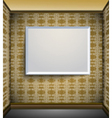 Interior with blank canvas vector image