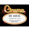 Cinema sign vector image