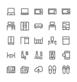Hotel Outline Icons 7 vector image