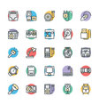 Electronic Cool Icons 6 vector image