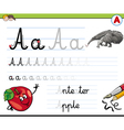 Cartoon of Writing Skills Practise wi vector image