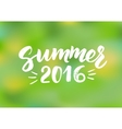 Summer 2016 - hand drawn brush lettering vector image