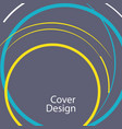 abstract line circle design vector image