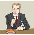 businessman finger pointing at you vector image