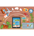 Colourful Travel Planning Banner vector image