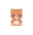 cute teddy bear icon flat design vector image