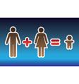 Happy families vector image