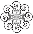 Indian Henna Tattoo Swirly flower Inspired vector image