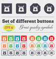 kitchen scales icon sign Big set of colorful vector image