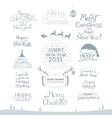 Merry Christmas Happy New Year 2017 Typography vector image