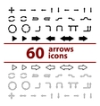 set of icons arrows vector image