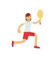 teen girl playing tennis active lifestyle vector image
