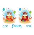 The signs of the zodiac Guinea pig Cancer vector image