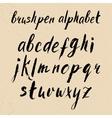 Hand drawn brushpen alphabet vector image vector image
