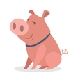Cute Funny Piglet Flat Style Icon vector image