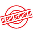 Czech Republic rubber stamp vector image