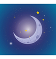 Moon and stars in the sky vector image