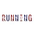 running text font design marathon runners vector image