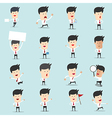 Set of cartoon businessman with many character for vector image