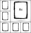 Set of grunge frames vector image