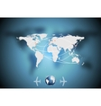 Air traffic background with world map vector image