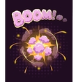 Big cool explosion background vector image