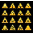 triangular warning signs vector image vector image
