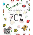 Discount 70 Discounts price tag Black Friday vector image