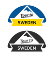 Tour to Sweden Set of Badges vector image vector image