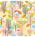 autumn forest seamles pattern vector image