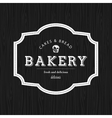 Bakery Food Label vector image