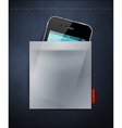 cell phone in a pocket of jeans vector image