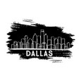 dallas texas usa city skyline silhouette vector image