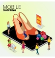 Fashion boutique shop online Woman using digital vector image