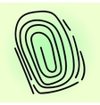 Fingerprint pop art vector image