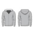 Hoodies shirt template vector image
