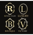 Luxury royal club boutique and victory design vector image