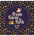 Modern flat design farm and agriculture icons vector image