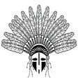 Native american warrior vector image