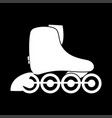 roller skate white color icon vector image